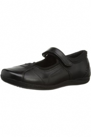 HUSH PUPPIES Cindy Velcro School Shoe (Black)